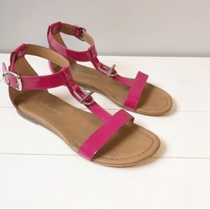 Franco Sarto Grafite Patent Leather Sandals - Pink